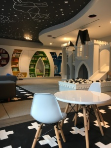 Sky View Parc Playroom with Castle and PLAY Bookcase