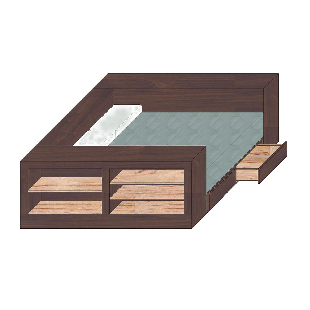 Box Bed w Storage