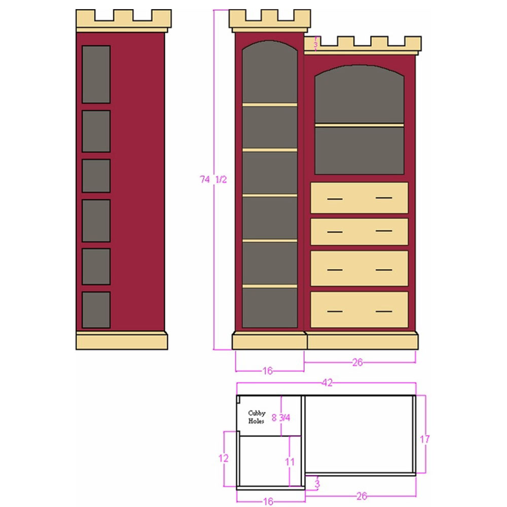 Stirling Castle Dresser Plans