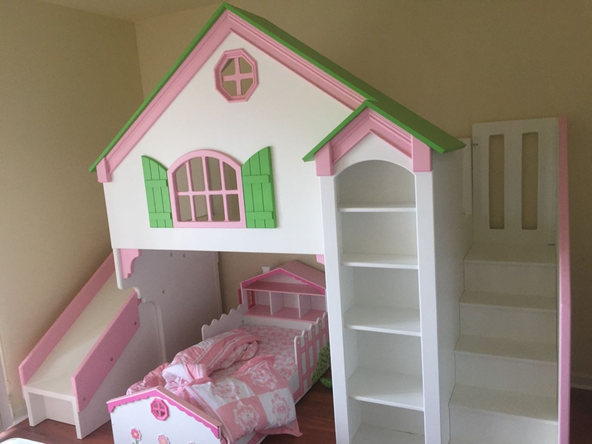 Dollhouse Loft Bed - Themed Beds by Tanglewood Design