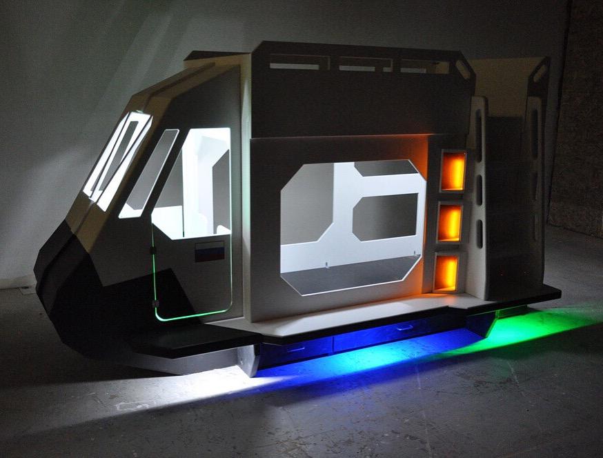 Space Shuttle Bunk Bed Indoor Playhouse Bunk Bed Loft