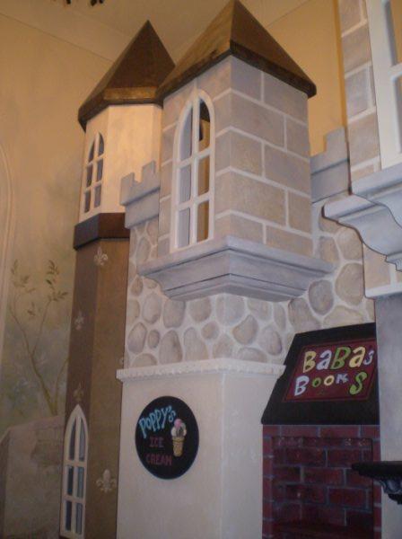 Ellenburg Castle Playhouse - Hand Painted by Client's Muralist