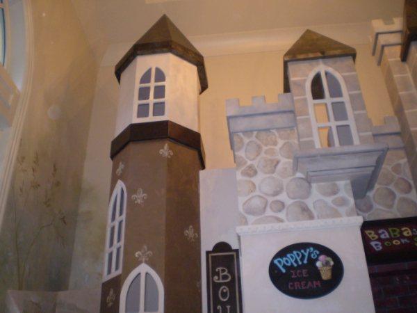 Ellenberg Castle Playhouse - Hand-painted by Client's Muralist