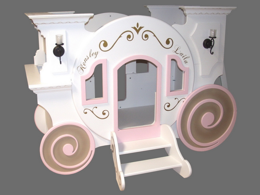 Blueprints for the cinderella princess carriage bunk bed for Princess bed blueprints