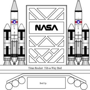 Titan Rocket Ship Bed - Tilt-A-Way (Murphy)