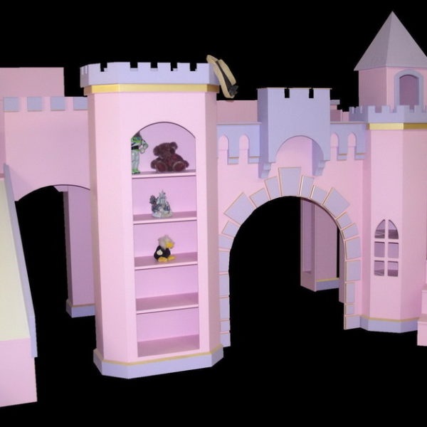 Pink Norwich Castle with optional slide and wraparound staircase