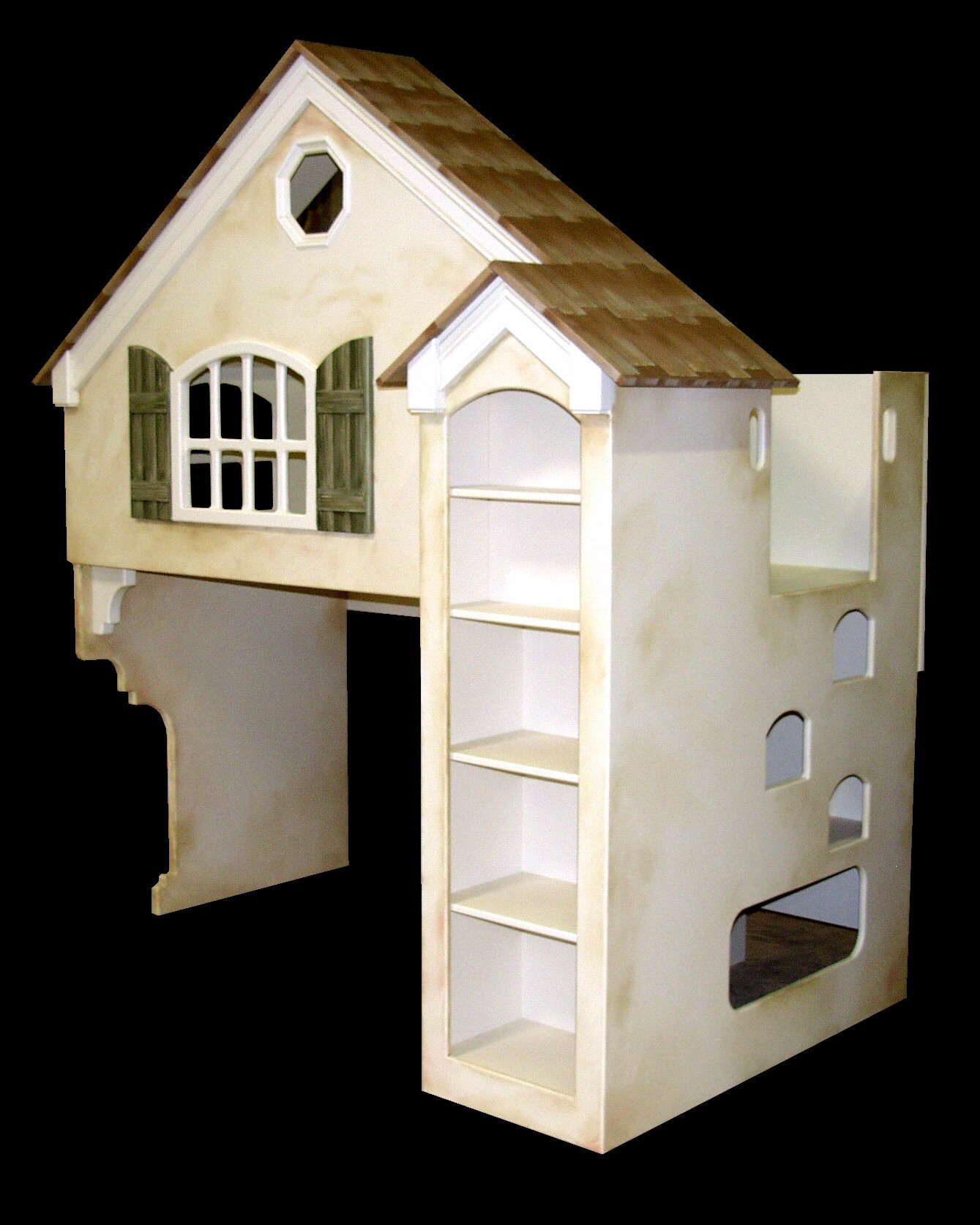 Tan Dollhouse Bunk Bed