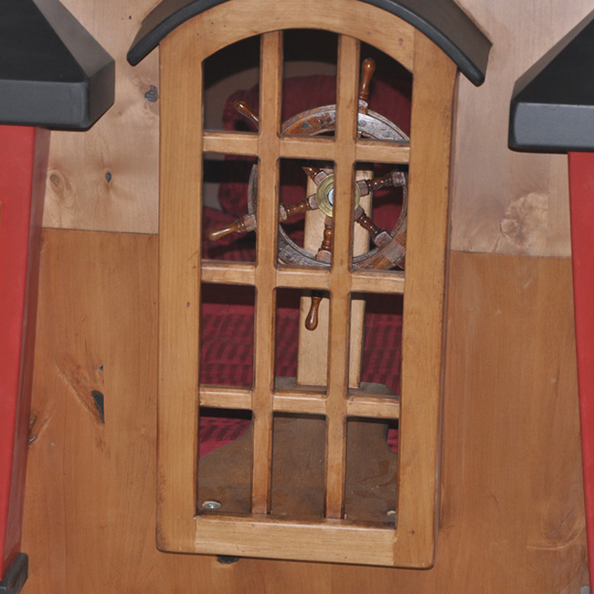 The Back Window of the Pearl Pirate Ship Bed with Trundle