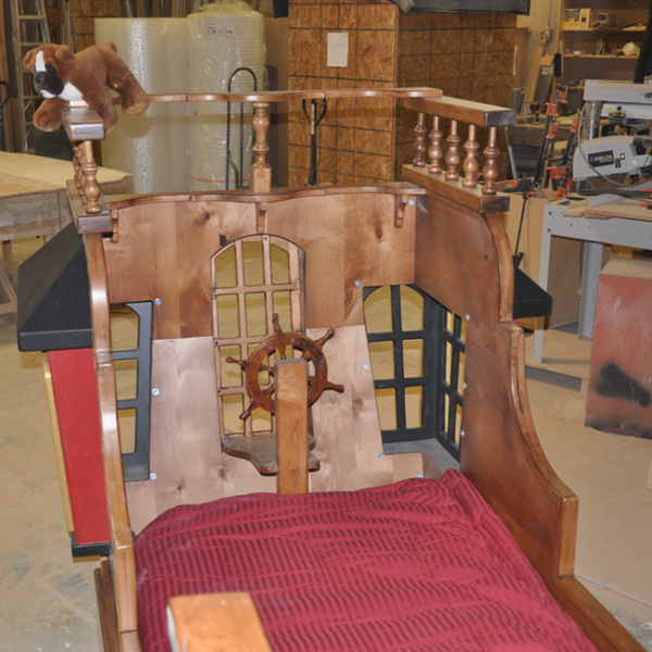 Sleeping Area of the Pearl Pirate Ship Bed with Trundle