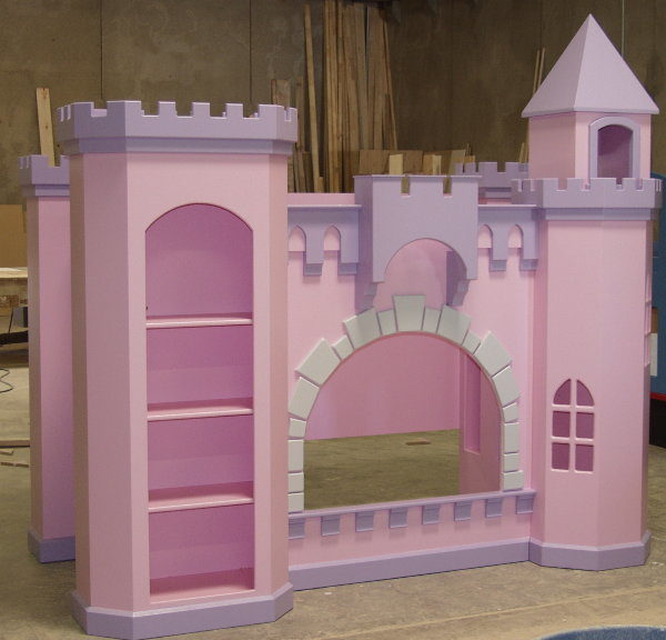 Castle bunk bed, base painted