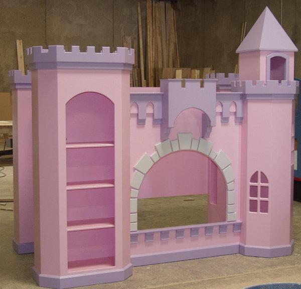 Castle bunk bed, base painted