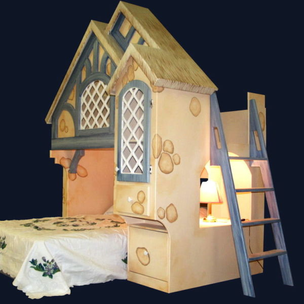 Snow White Cottage Bunk Bed w Ladder (Included)