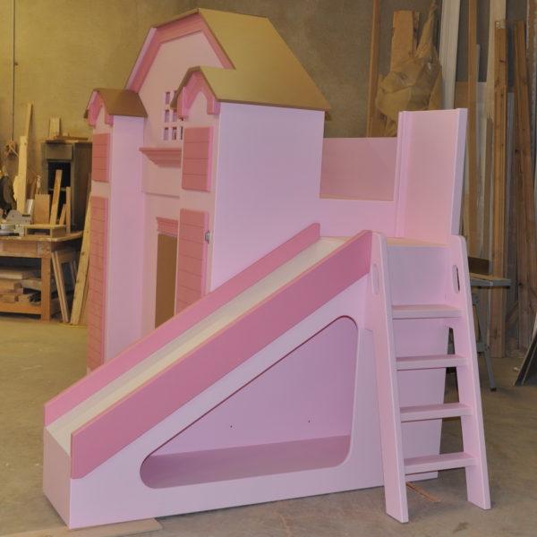 McKenzie Bed/Playhouse Side View w/ Slide, Ladder & Storage
