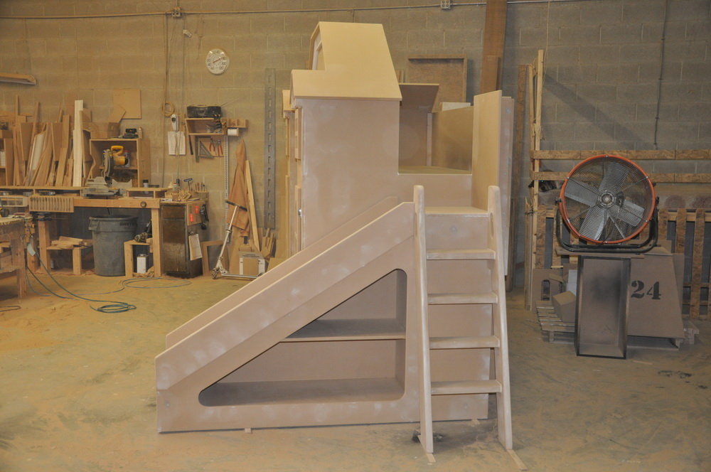 McKenzie Bunk Bed Side View of Unpainted