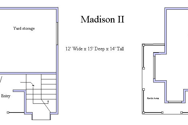 Madison II Playhouse Floor Plan