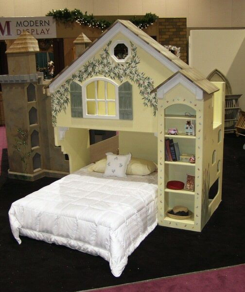 Dollhouse Kids Loft Bed - Custom over Full-471