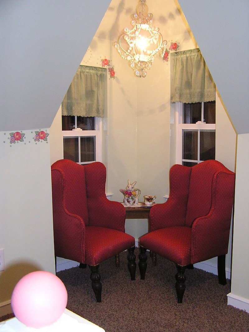 Ludwig Playhouse Chairs in Corner