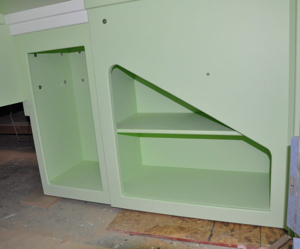 Victorian Bed/Playhouse Inside Lower Level Shelves