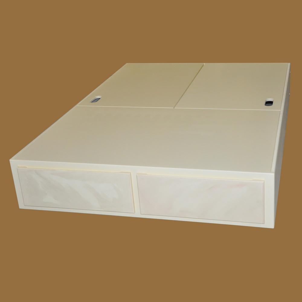 Mattress Pedestal w Drawers and Storage