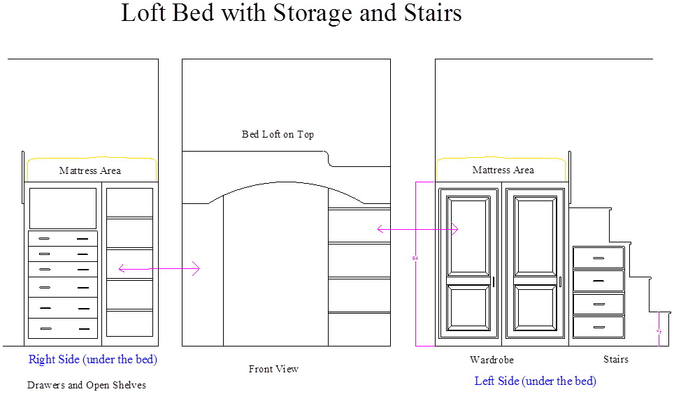 Loft Bed w Storage
