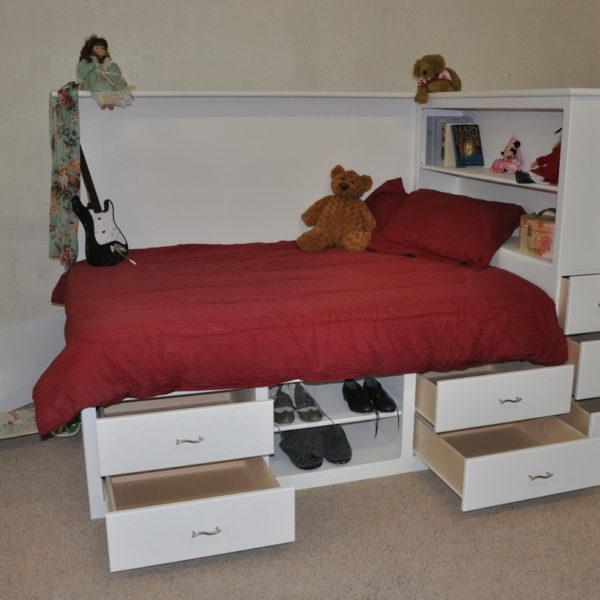 Orlando Platform Bed w/ Storage-634