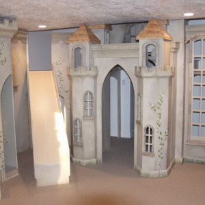 Castle Playhouse in basement