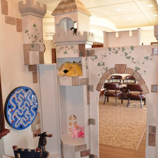 Waiting room playhouse interior