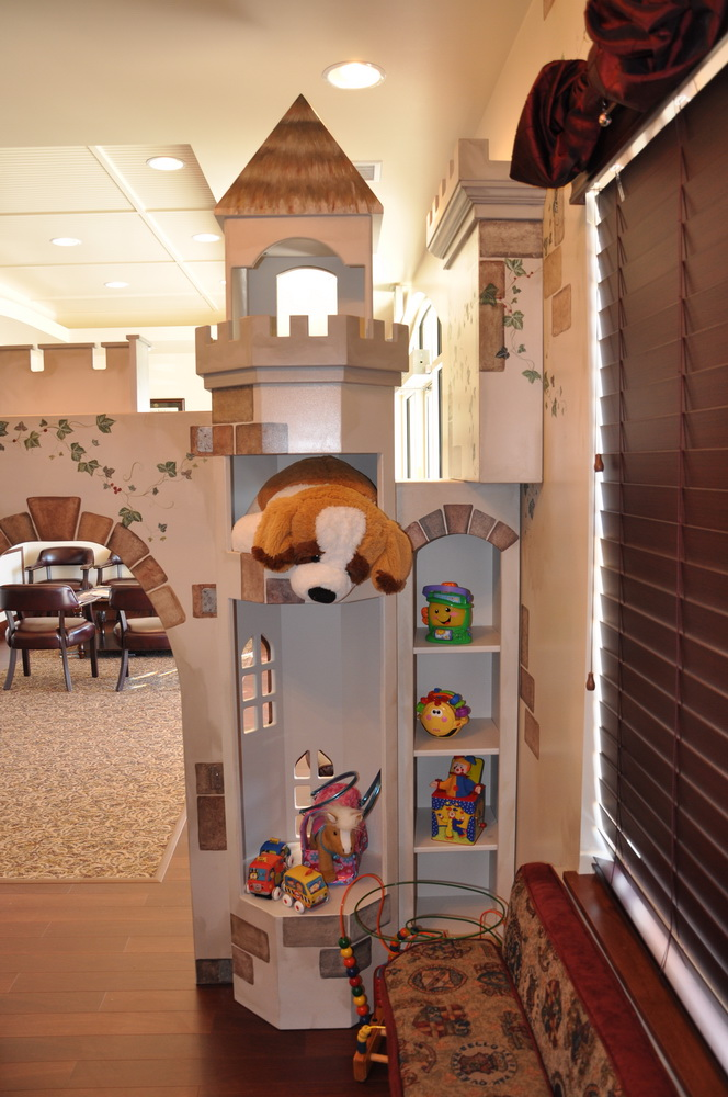 Waiting room playhouse castle