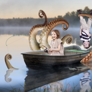 Octopus Fishing Friend