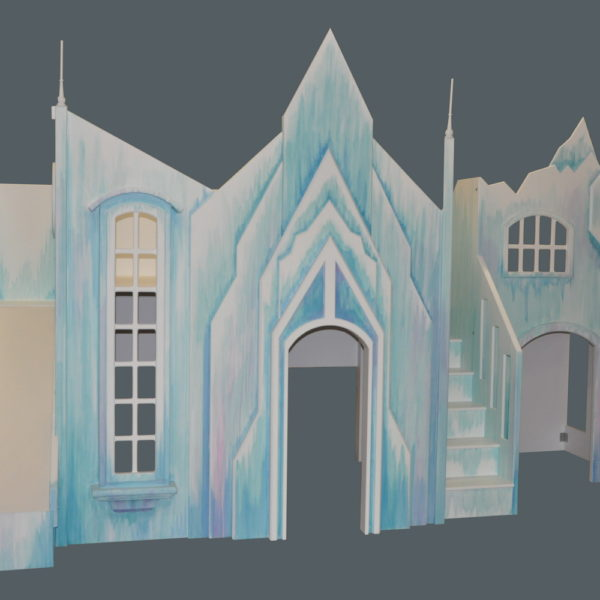 Frozen Castle w' Slide, Stairs and Playhouse
