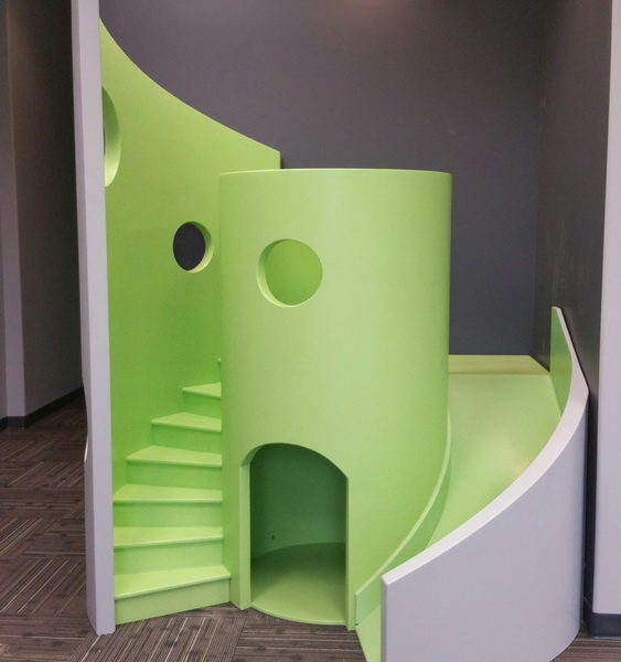 Modern Indoor Playhouse with Slide and Stairs