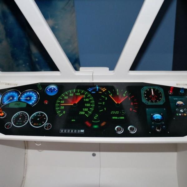 Space Shuttle Playhouse dashboard