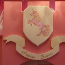 Unicorn and title plaque of Arwen's Castle
