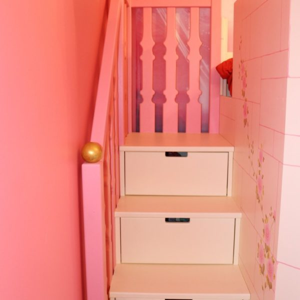 Staircase with drawers on Arwen's Castle