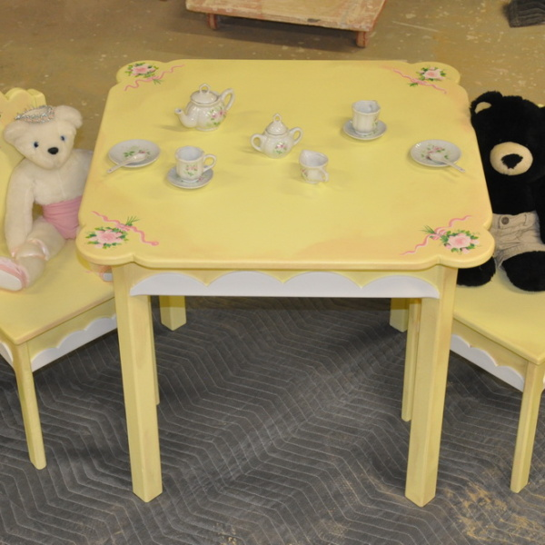 Hand Painted Table & Chair Set