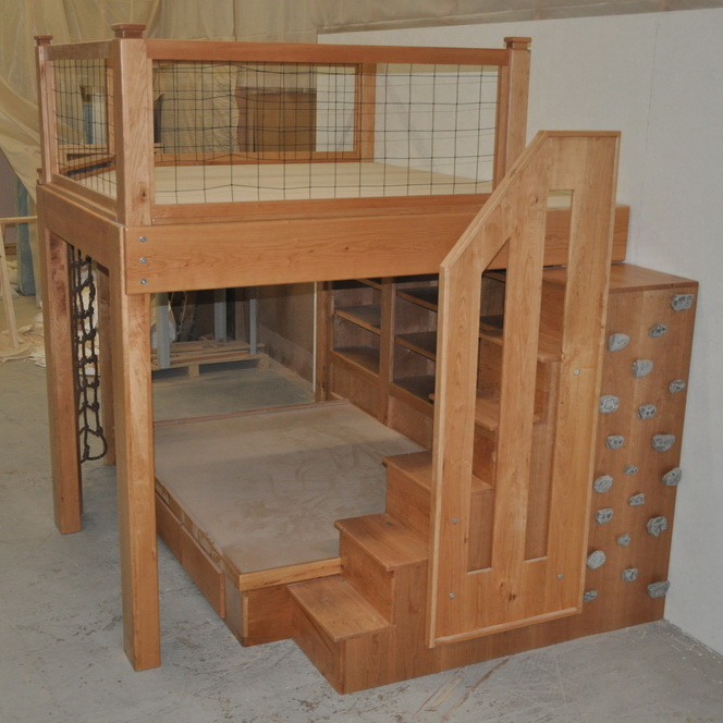 Cherrywood Platform Bed - Staircase View