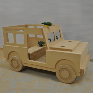 Indoor Jeep Playhouse for waiting rooms