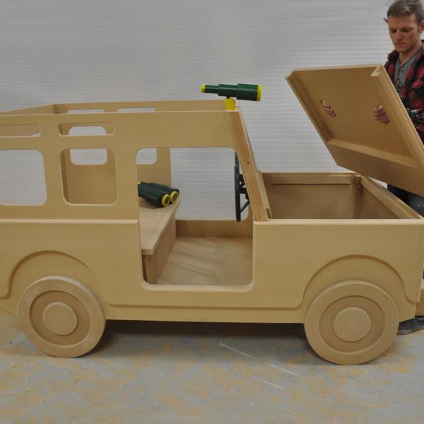 Indoor Jeep Playhouse