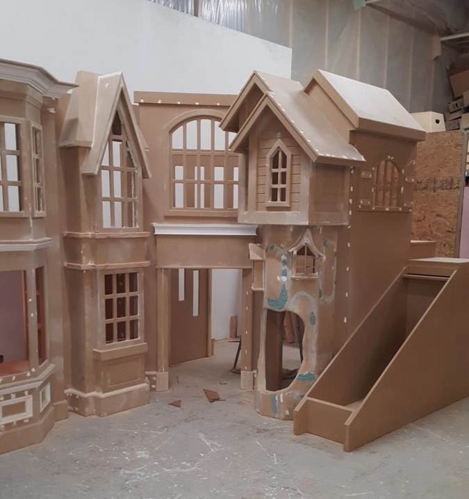 Storefront Playhouse with slide