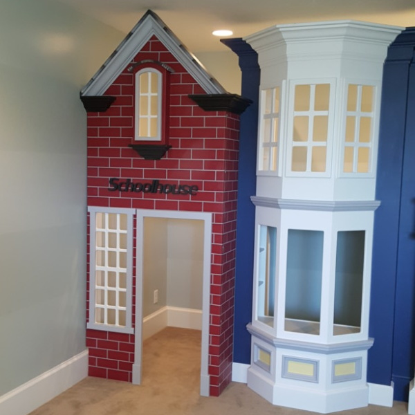 Storefront Playhouse with Schoolhouse