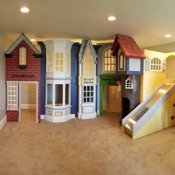 Timeless Storefront Playhouse with Slide