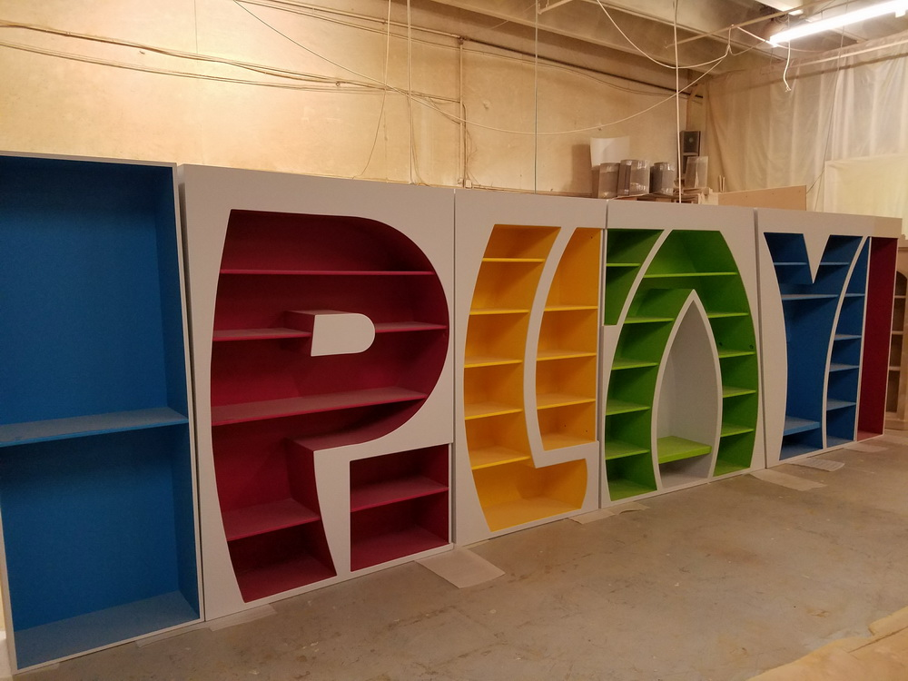 Alphabet bookcase