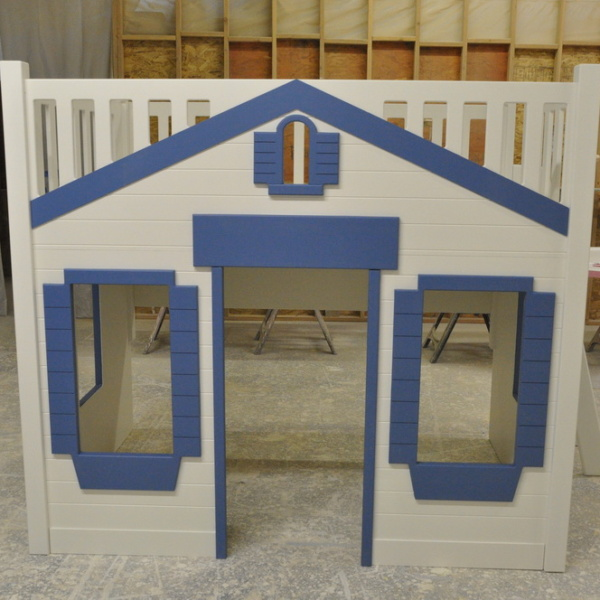 Mason Cottage Style Bunk Bed with Large Windows.