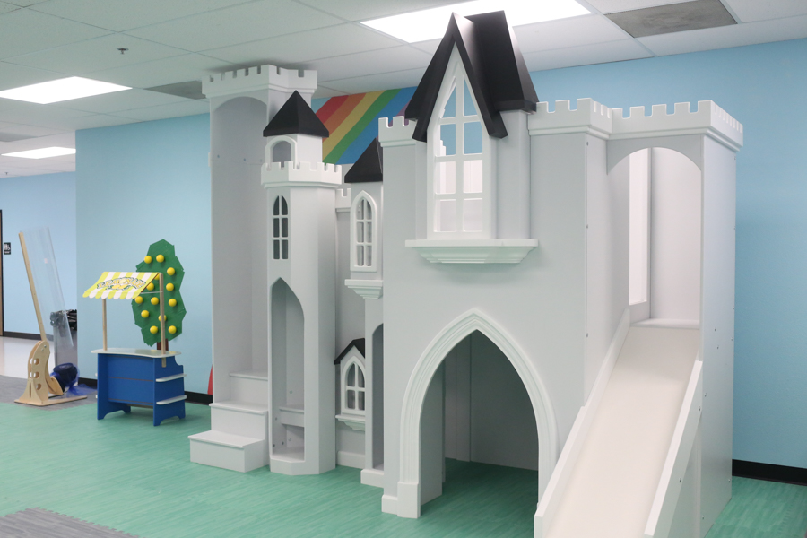 Sky View Castle, Castle Playhouse, Kids Indoor Playhouse, Indoor Playhouse  With Slide,