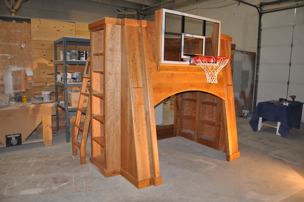 Pro Basketball Bunk Bed Custom Designed And Built By