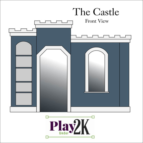 Indoor Castle Playhouse, Kids Playhouse, Under Two Thousand Dollars, Reversible Shelves
