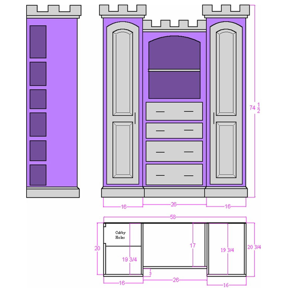 Edinburgh Castle Dresser Plans