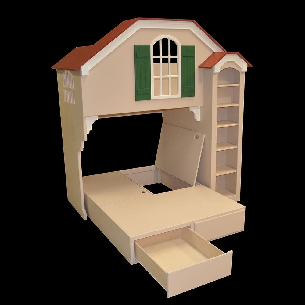 """Pedestal Showing Drawer and """"Hidden Storage"""""""