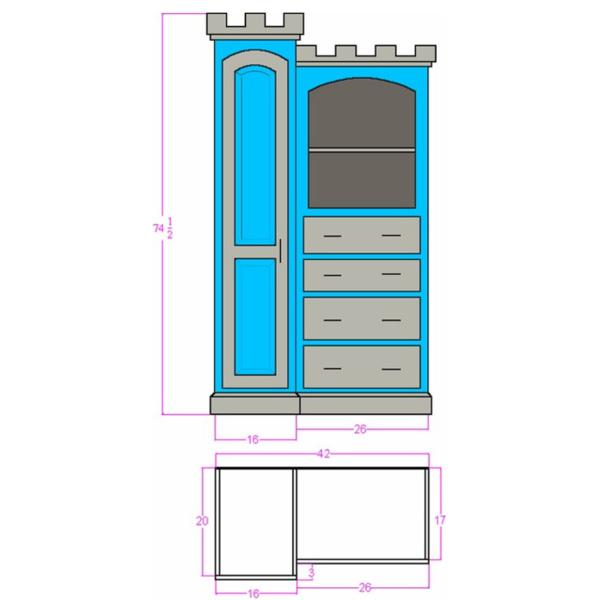 Pembroke Castle Dresser Plans