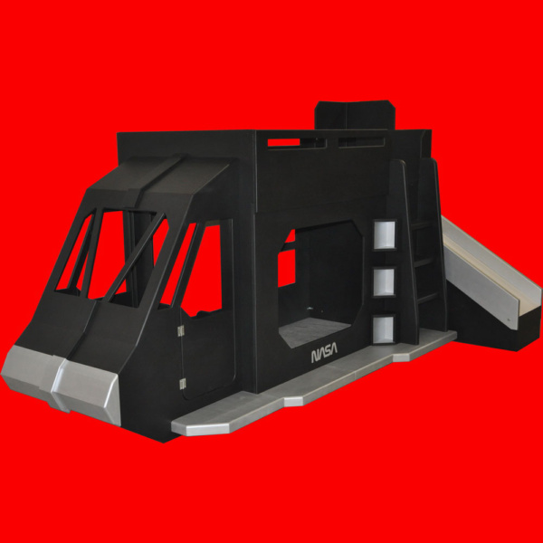 Black & Silver Space Shuttle w' Optional Slide